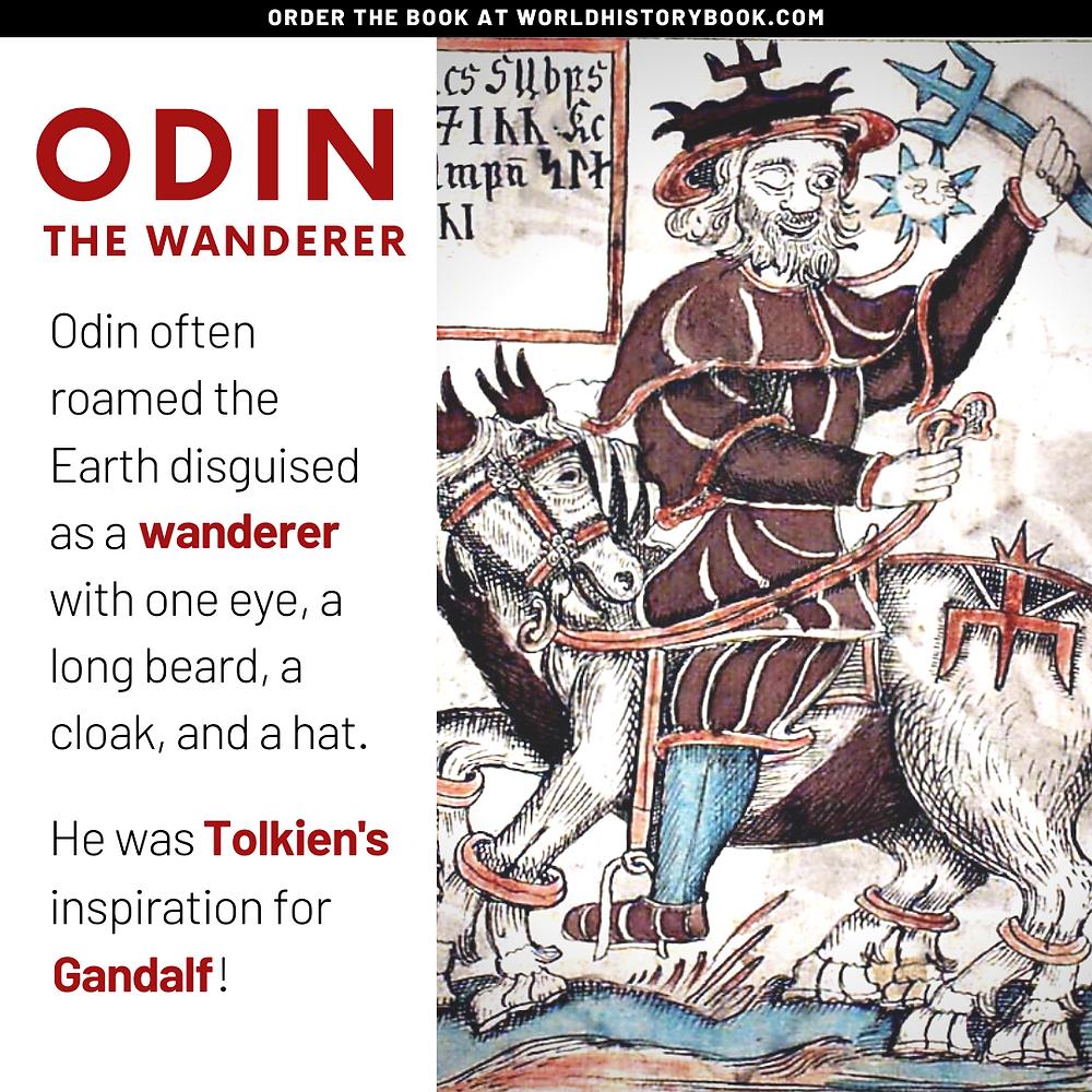 the great world history book stephan dinkgreve viking norse mythology odin valhalla valkyries gandalf tolkien