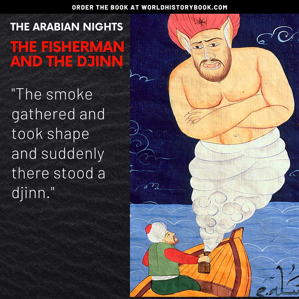 the great world history book stephan dinkgreve arabian nights one thousand and one nights fisherman djinn genie