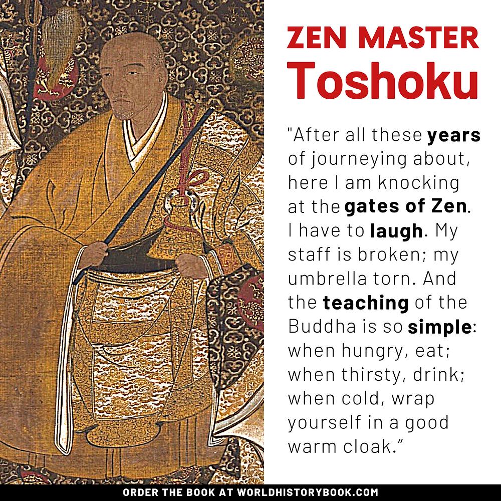 the great world history book stephan dinkgreve japan zen meditation zen master toshoku quote