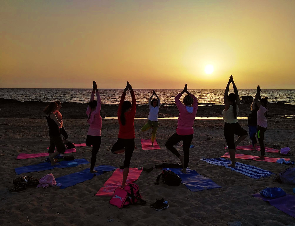 Sunset Beach Yoga, Paphos, Cyprus Yoga