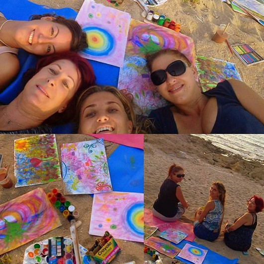 ArtTherapy#Beach#Sharing#Caring#Loving