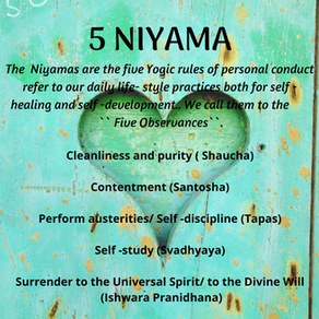 5 Niyama - The Inner Life of a Yogi
