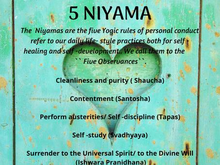 5 Niyama - The Inner Life of a Yogi