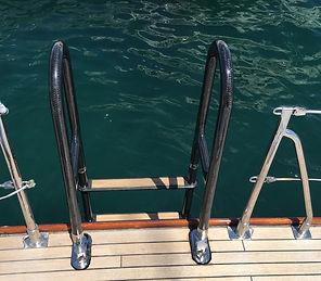 Carbon bathing ladder