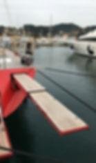 Carbon yacht gangway