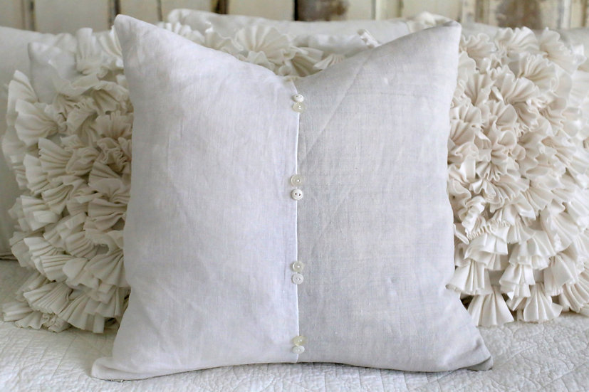 Two-Toned Button Pillow Slip