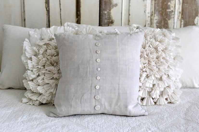 Linen Button Pillow Slip