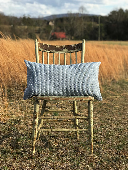 Blue Chenille Pillow Slip