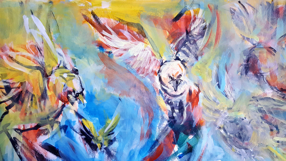 Vögel Blau
