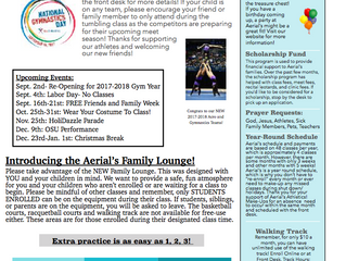 Welcome to Aerial's! Fall Newsletter