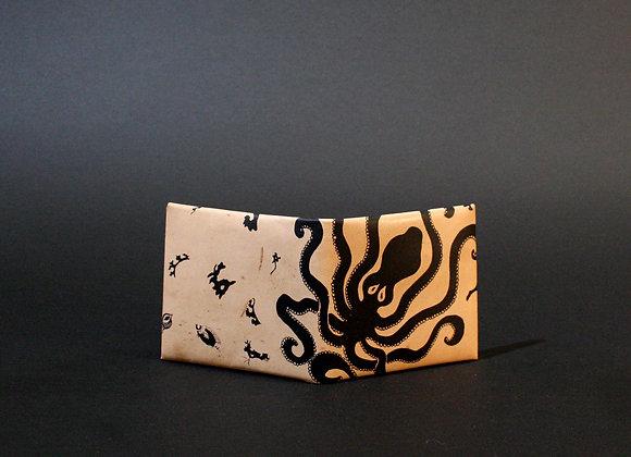 Leather Wallet, Minoan Octopus