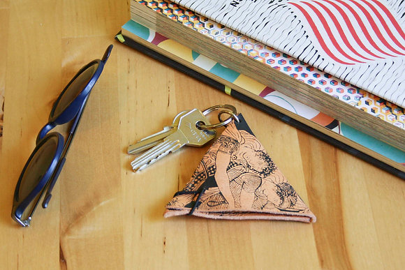 Leather Keychain Pouch, The Abduction of the Daughters of Leucippus