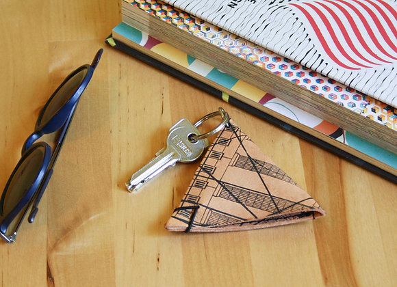 Leather Keychain Pouch, Golden Ratio