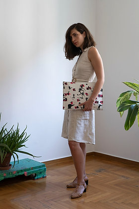 Leather clutch bag with Zipper, Hersonissos