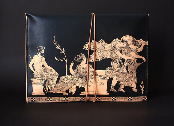 Leather Clutch Envelope Large, The Abduction of the Daughters of Leucippus