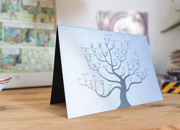 Postcard/wall decor. I Love Ancient Greece. The Genealogical Tree of Gods.