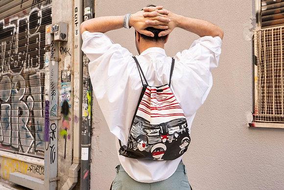 Leather Backpack / Shoulder Bag, Munch ANGST