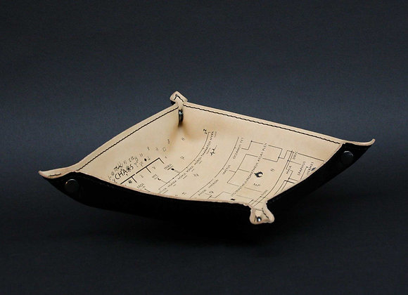 Leather Tray / Vide Poche, Genealogical Tree of Gods