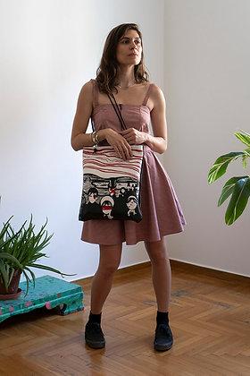 Leather Tote Bag / Shopper Bag, Munch ANGST