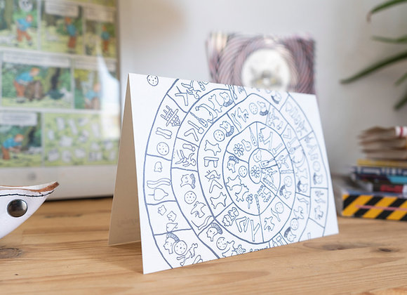 Postcard/wall decor. I Love Ancient Greece. Phaistos Disc.