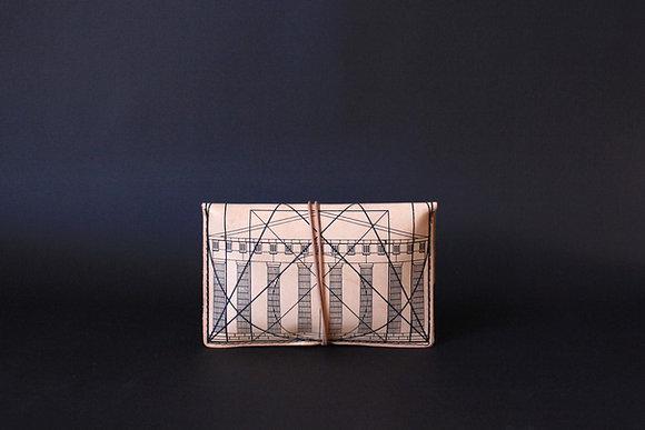 Leather pouch purse, Golden Ratio