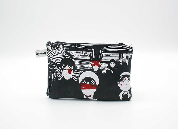 Leather Travel Pouch Purse, Munch ANGST