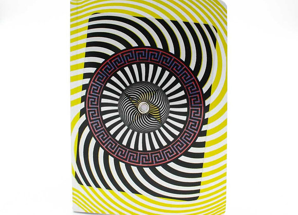 Optical Illusion Turning notebook/journal, Zeus. Interactive cover.
