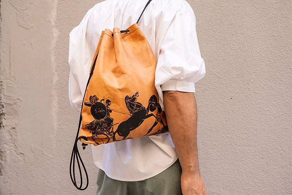 Leather Backpack / Shoulder Bag, The Greek Wars