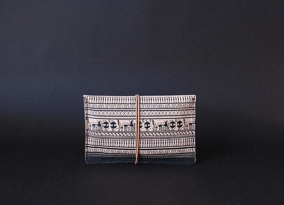 Leather Portfolio Small, Geometrical Period