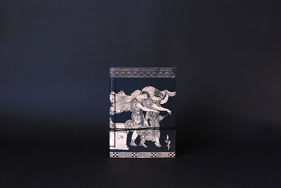 Leather Journal Notebook A6, The abduction of the daughters of Leucippus