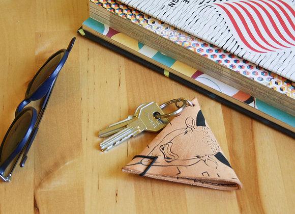 Leather Keychain Pouch, The Minotaur