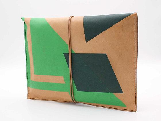 Leather Pouch Envelope Large, Non-Figurative Art