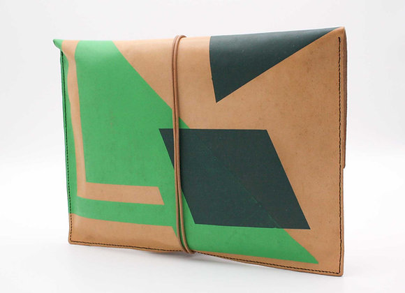 Leather Pouch Envelope Large, Non-Figurative