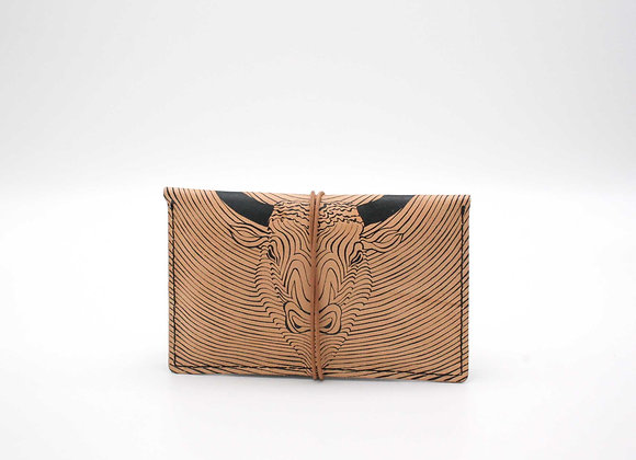 Leather pouch purse, Minotauros