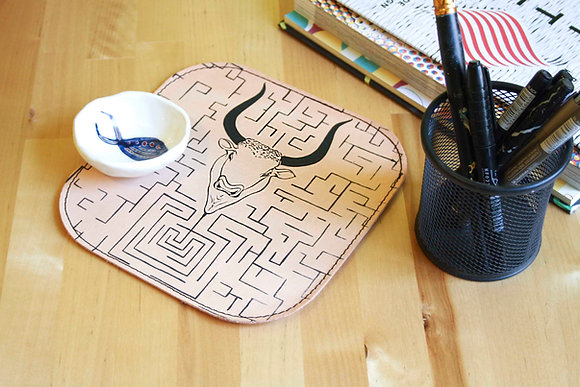 Leather Mousepad/Mat, The Minotaur