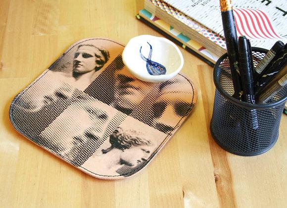 Leather Mousepad/Mat, Aphrodite & Diadoumenos