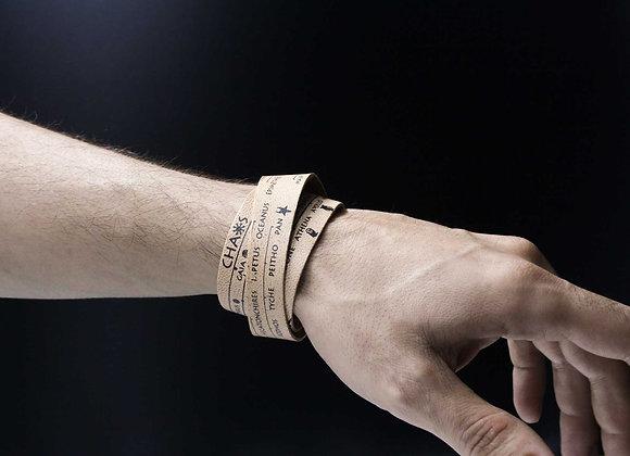 Leather Bracelet, Genealogical Tree of Gods