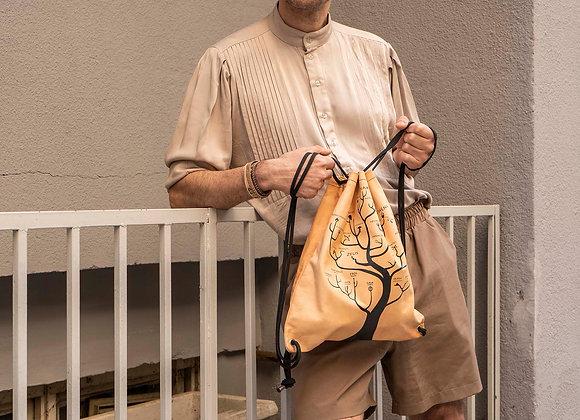 Leather Backpack / Shoulder Bag, The Tree of Gods