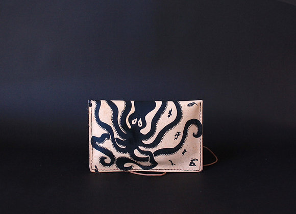 Leather Portfolio Small, Octopus