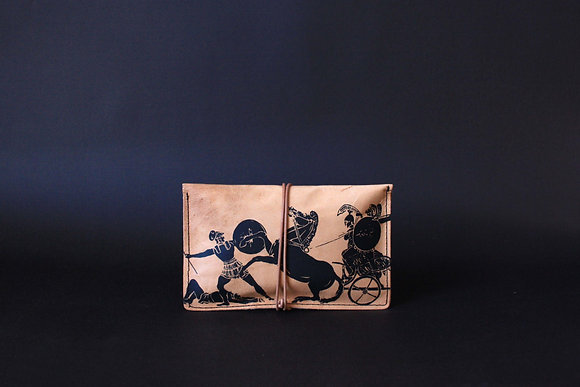 Leather pouch purse, The Greek Wars