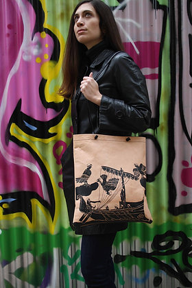 Leather Tote Bag / Shopper Bag, Odysseus & The Sirens