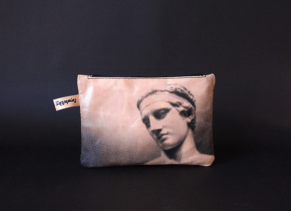 Leather Travel Pouch Purse, Aphrodite & Diadoumenos