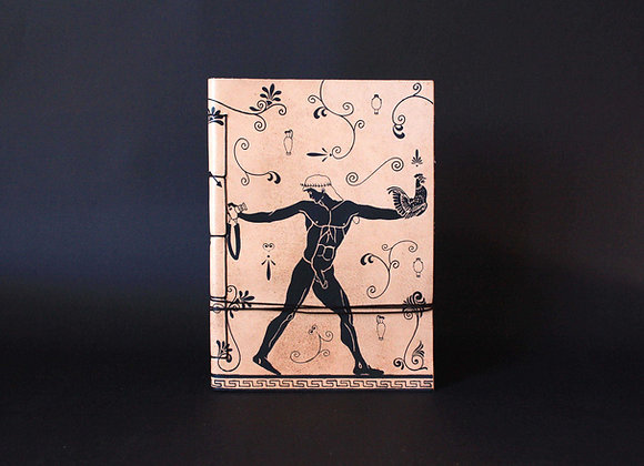Leather Journal Notebook A5, Ganymedes & Oedipus.