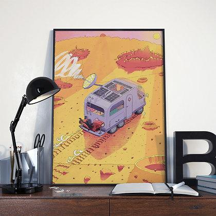 Space Van, Poster.