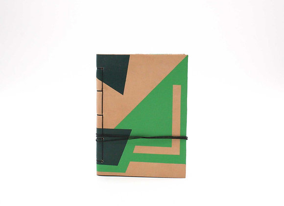 Leather Journal Notebook A6, Non-Figurative Abstract Art