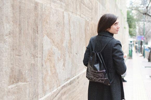 Leather Backpack / Shoulder Bag, Genealogical Tree of Gods