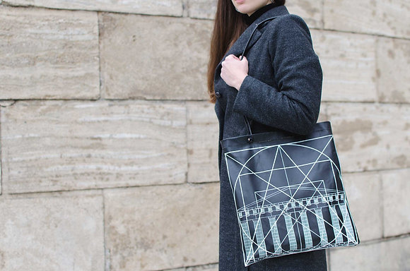 Leather Tote Bag / Shopper Bag, Golden Ratio