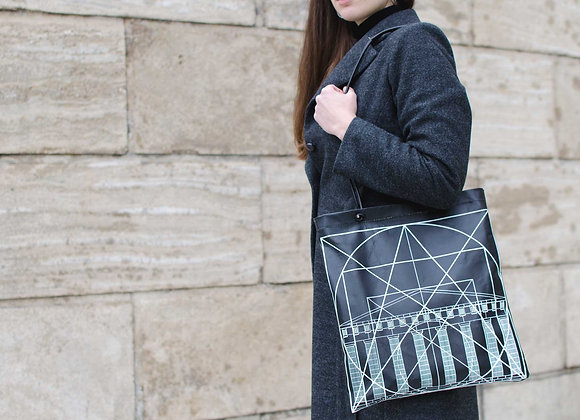 Leather Tote Bag / Shopper Bag, Golden Ratio