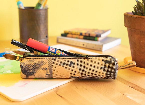 Classy leather pencil case/pen Pouch, Aphrodite & Diadoumenos