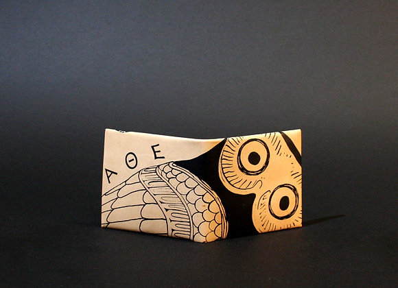 Leather Wallet, Glaucus (Owl of Athens)